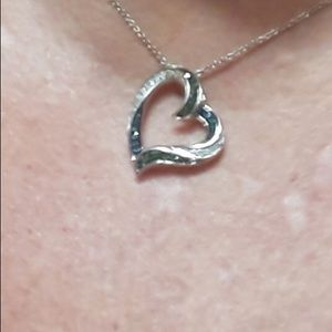 .34 CTW DIAMOND HEART NECKLACE